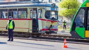 30 osób rannych w wypadku tramwajów w Poznaniu
