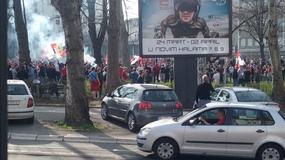 """MARŠ KROZ BEOGRAD """"Delije"""" i Rusi zagrejani za bratski duel /FOTO/"""
