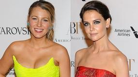 Blake Lively i Katie Holmes w seksownych sukniach. Która wygląda lepiej?