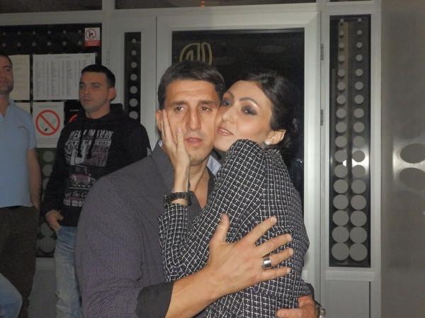 Kristijan Golubović sa suprugom