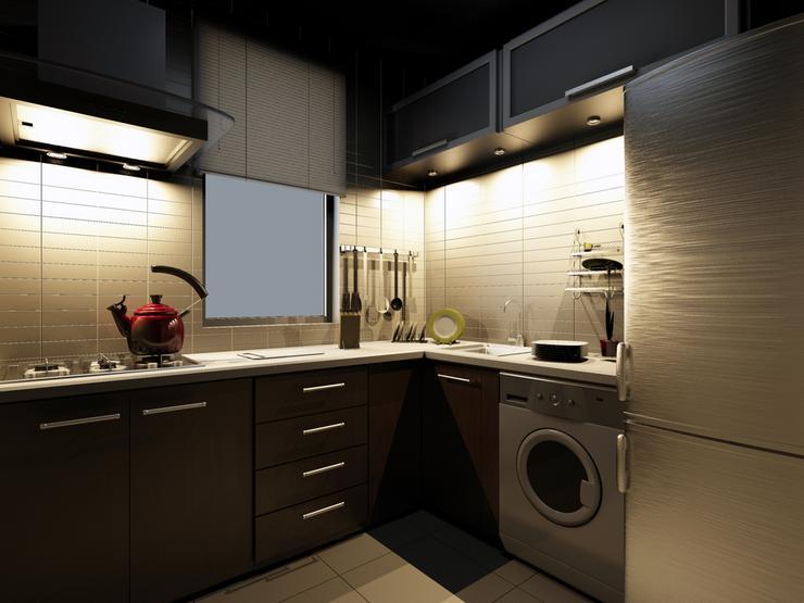 Jak urządzić małą kuchnię  praktyczne wskazówki -> Kuchnie W Bloku Jak Urzadzic