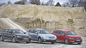 Audi A4 Allroad kontra Volkswagen Passat Alltrack i Subaru Outback: off-road małego formatu