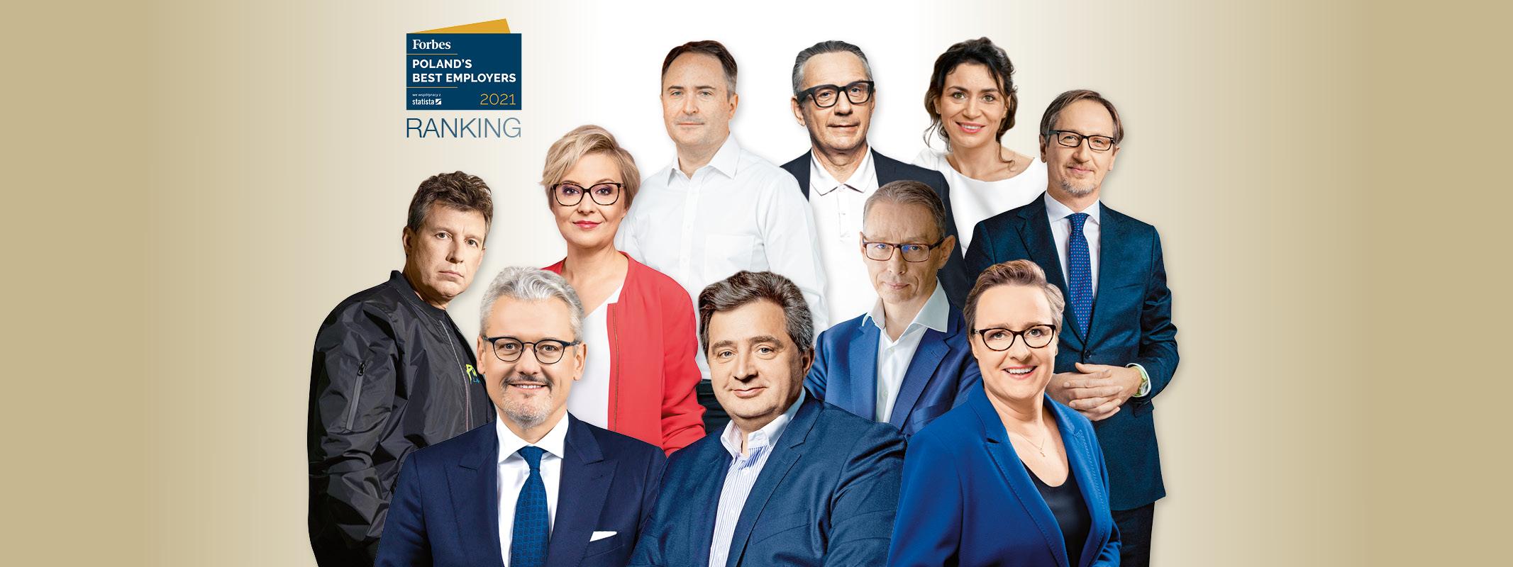Najlepsi pracodawcy w Polsce 2021. Ranking magazynu Forbes - Rankingi - Forbes.pl