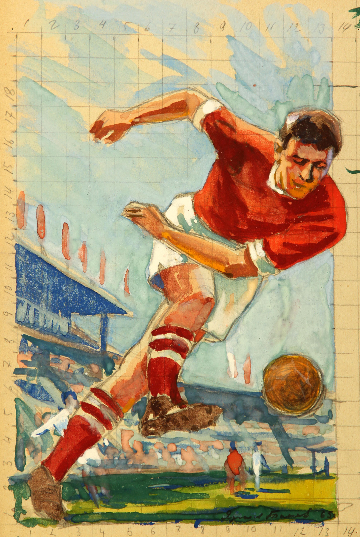 Советская открытка спортсмен