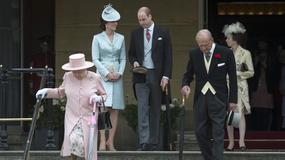 Garden party w Pałacu Buckingham: księżna Kate znów olśniła stylizacją. Pojawił się też książę Filip – pierwszy raz od ogłoszenia emerytury