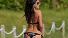 Ona wspiera Obamę. Pośladkami