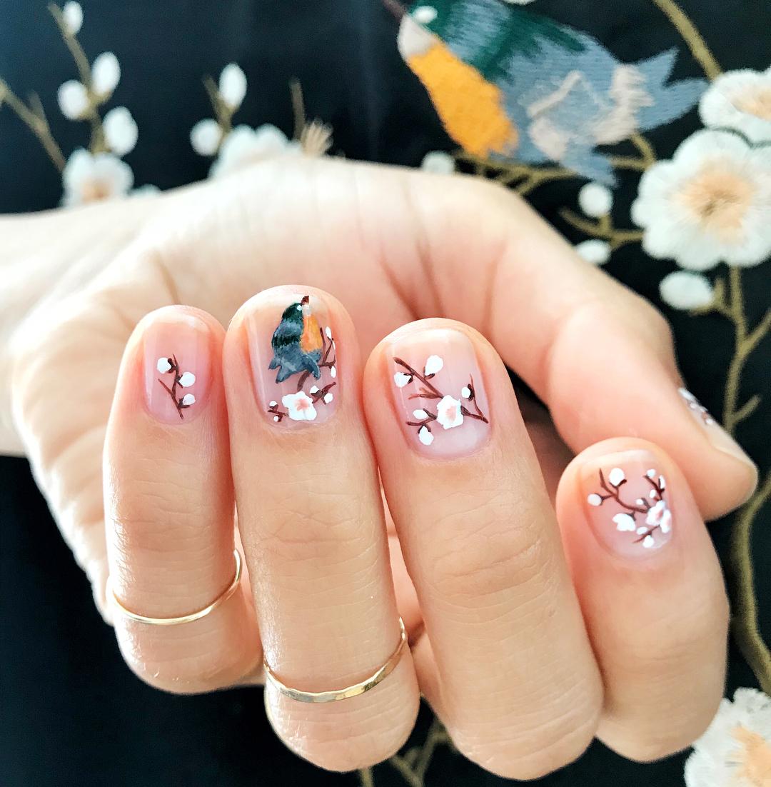 Najmodniejszy Manicure Na Wiosne Oczywiscie W Kwiatki Ale Nadal