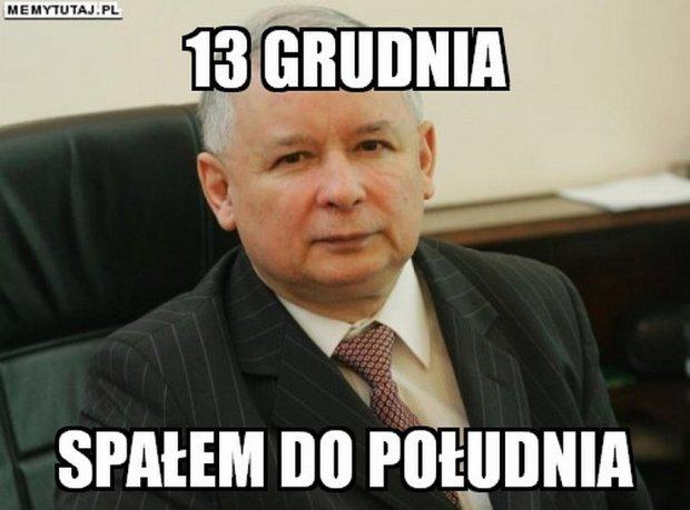 Znalezione obrazy dla zapytania kaczyński spał