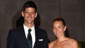 Djoković z piękną żoną na imprezie po Wimbledonie