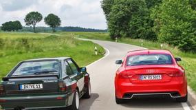 Piękna i bestia, czyli Audi Quattro vs. Audi RS 5