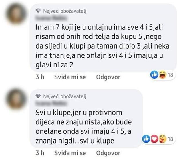 Fejbsuk komentar o polasku u školu