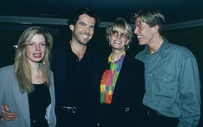 Pirs Brosnan, Kasandra i njihova deca Šarlot i Kristofer 1991. godine