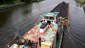 Barki z czarnym złotem na Kanale Gliwickim. Transport węgla do Wrocławia