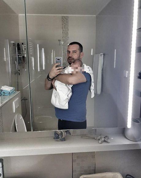 Peđa Medenica sa sinom