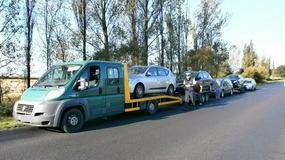 Pociąg z używkami. Polska laweta zamiast jednego, ciągnęła aż 4 auta
