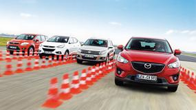 Mazda CX-5 kontra Volkswagen Tiguan, Hyundai ix35 i Ford Kuga: porównanie kompaktowych SUV-ów