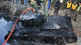 Unikatowy czołg wydobyty z koryta Warty