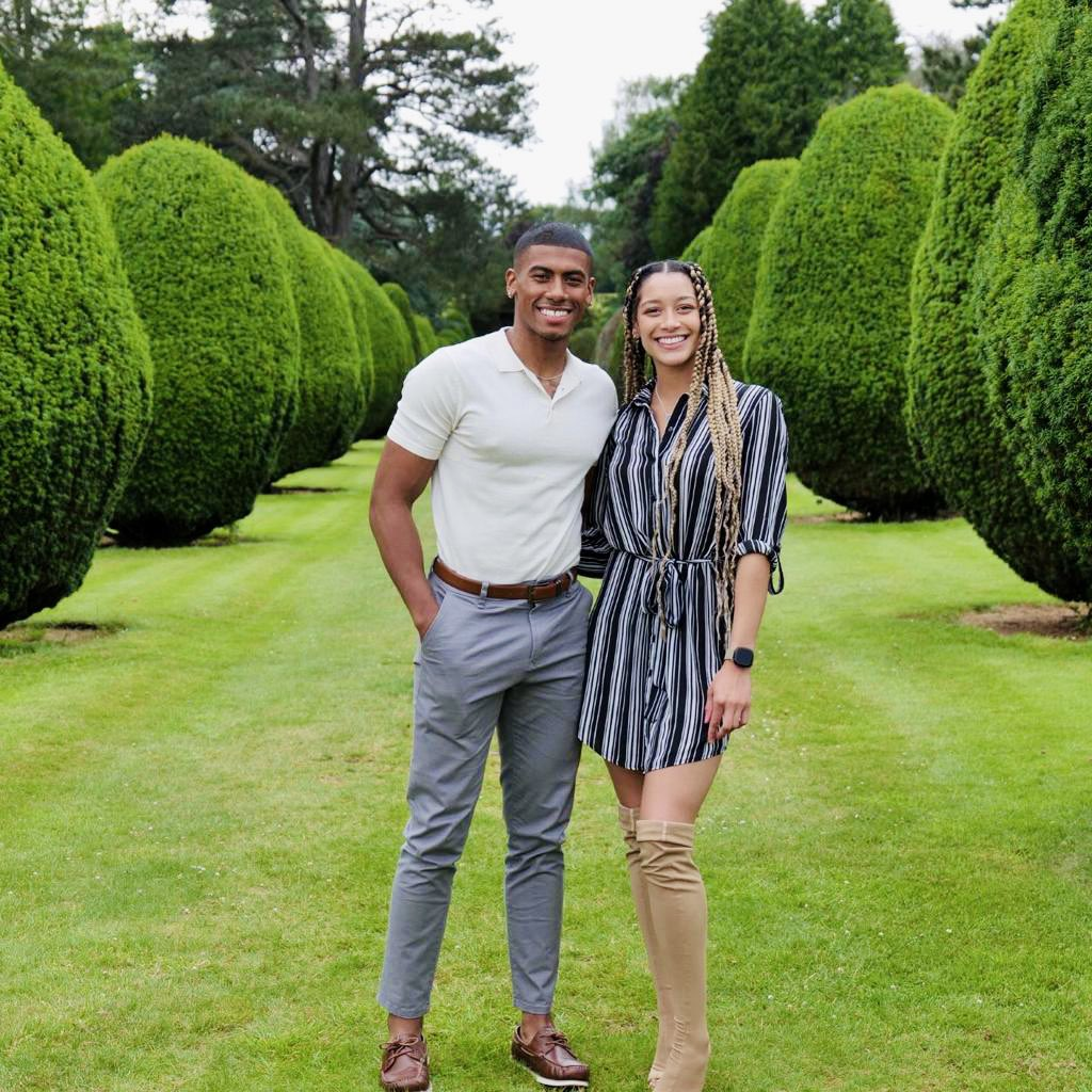 Stephanie Benson's daughter with her fiance