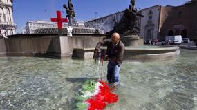 Włochy - kolorowy protest w Rzymie