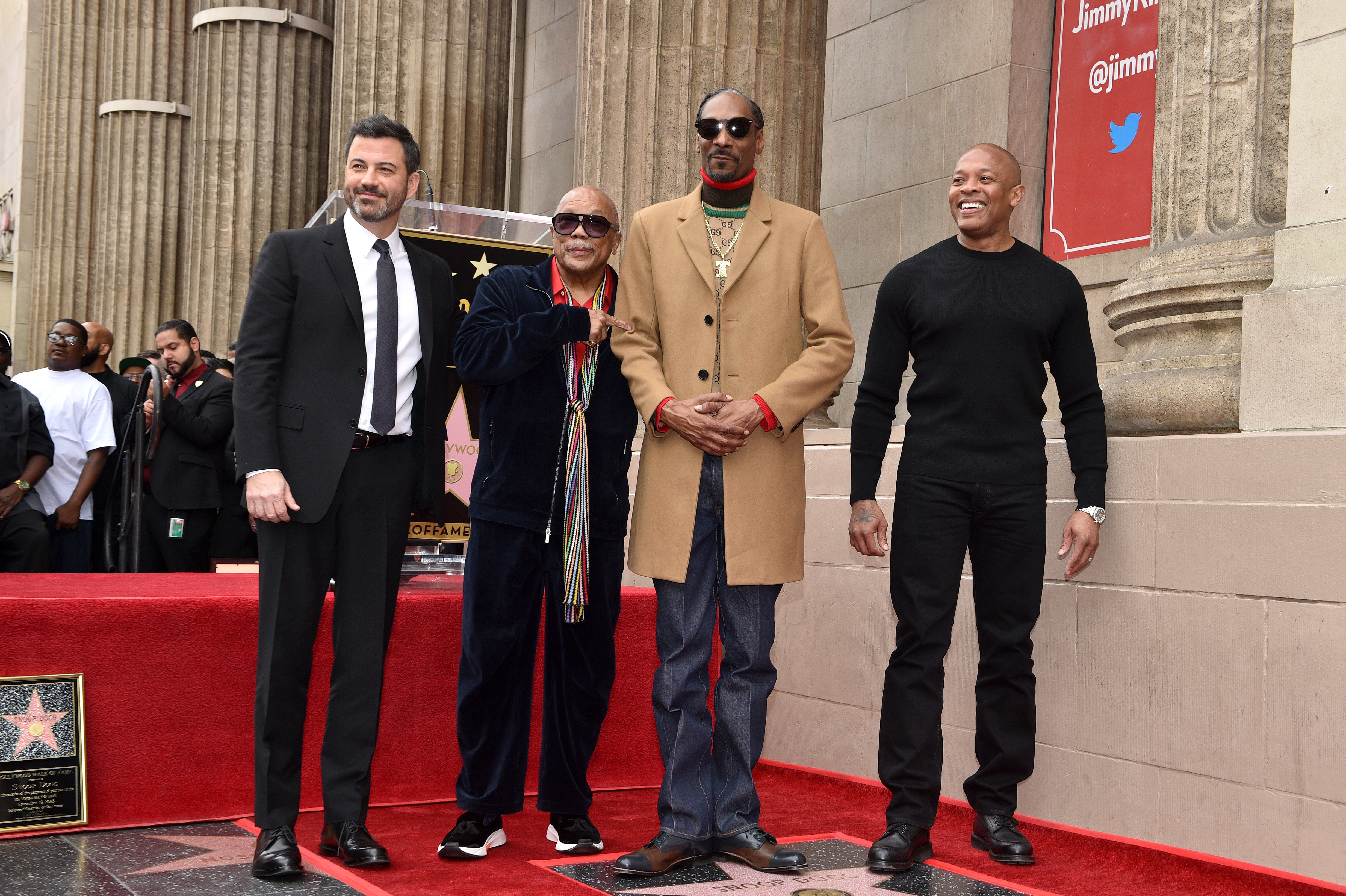 Snoop Dogg, Dr. Dre, Jimmy Kimmel, Quincy Jones / Fotó: Northfoto