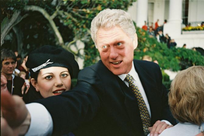 Bil Klinton i Monika Levinski tokom afere