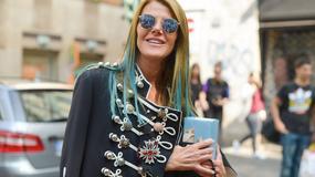 Stylizacje Anny Dello Russo ze światowych tygodni mody