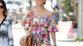 Jessica Alba w kwiecistej sukience