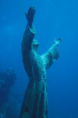Christ of the Abyss, Key Largo, Florida [spiritual ray]