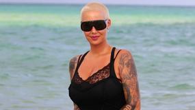 Amber Rose na plaży. Celebrytka nie wygląda kusząco