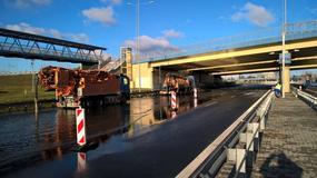 Zalany węzeł Marynarska w Warszawie. Duże utrudnienia