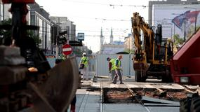 Zamknięta ulica Marszałkowska