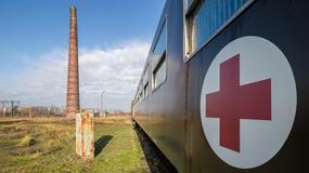 Unikatowy wagon opatrunkowo-apteczny w parowozowni Jarocin