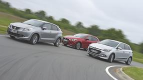 Małe jest wielkie - nowe Suzuki Baleno spotyka Mazdę 2 i Hyundaia i20