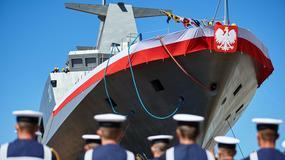 Wodowanie ORP Ślązak - pierwszego od lat nowego okrętu naszej marynarki