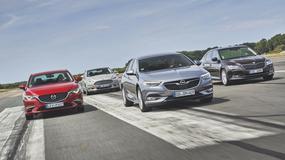 Nowy Opel Insignia kontra Ford Mondeo, Mazda 6 i Skoda Superb - kto wyprzedzi Opla?