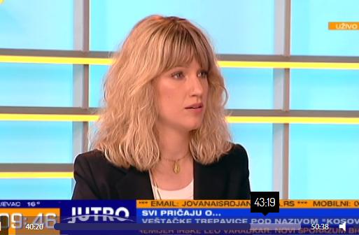 Šminkerka Ena Jović tokom gostovanja u emisiji