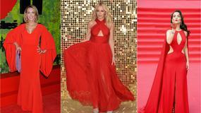 Czerwień na salonach: gwiazdy kochają czerwone sukienki