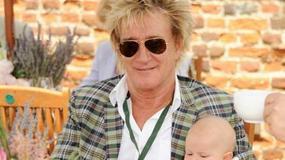 Rod Stewart z żoną i czteromiesięcznym synkiem