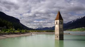 Curon - wioska zatopiona w alpejskim jeziorze