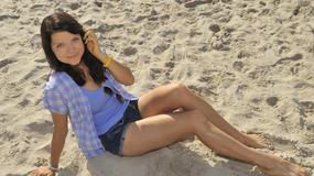 Joanna Jabłczyńska na plaży
