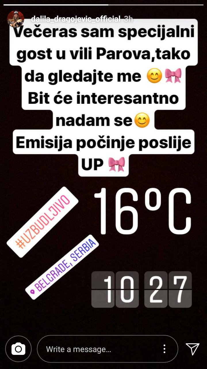 Dalila Dragojević Instagram