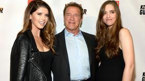 """Arnold Schwarzenegger na premierze filmu """"Killing Gunther"""" w towarzystwie pięknych córek"""
