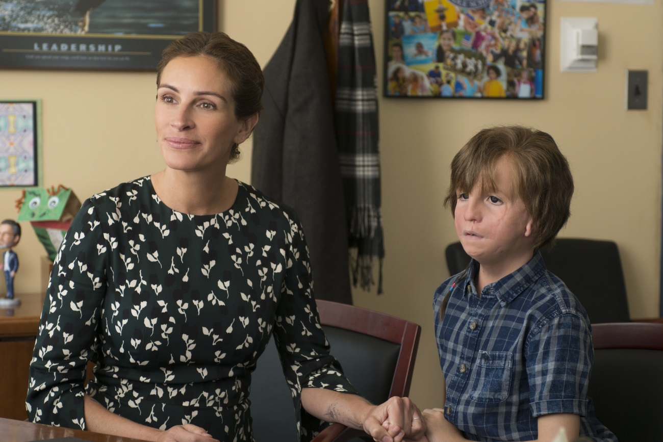 Julia Roberts oraz Jacob Tremblay w filmie