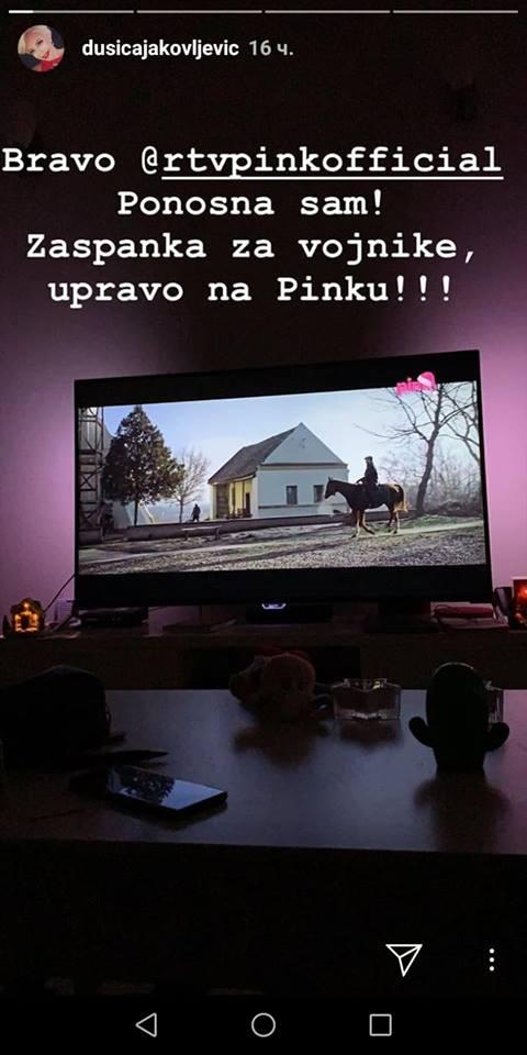Dušica ponosna na televiziju Pink
