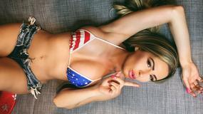 """To sie nazywa partiotyzm. Modelka """"Playboya"""" w barwach narodowych USA"""