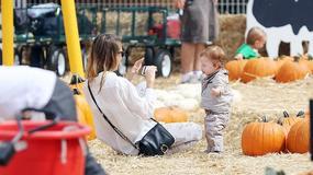 Gwiazdy z dziećmi na Mr. Bones Pumpkin Patch