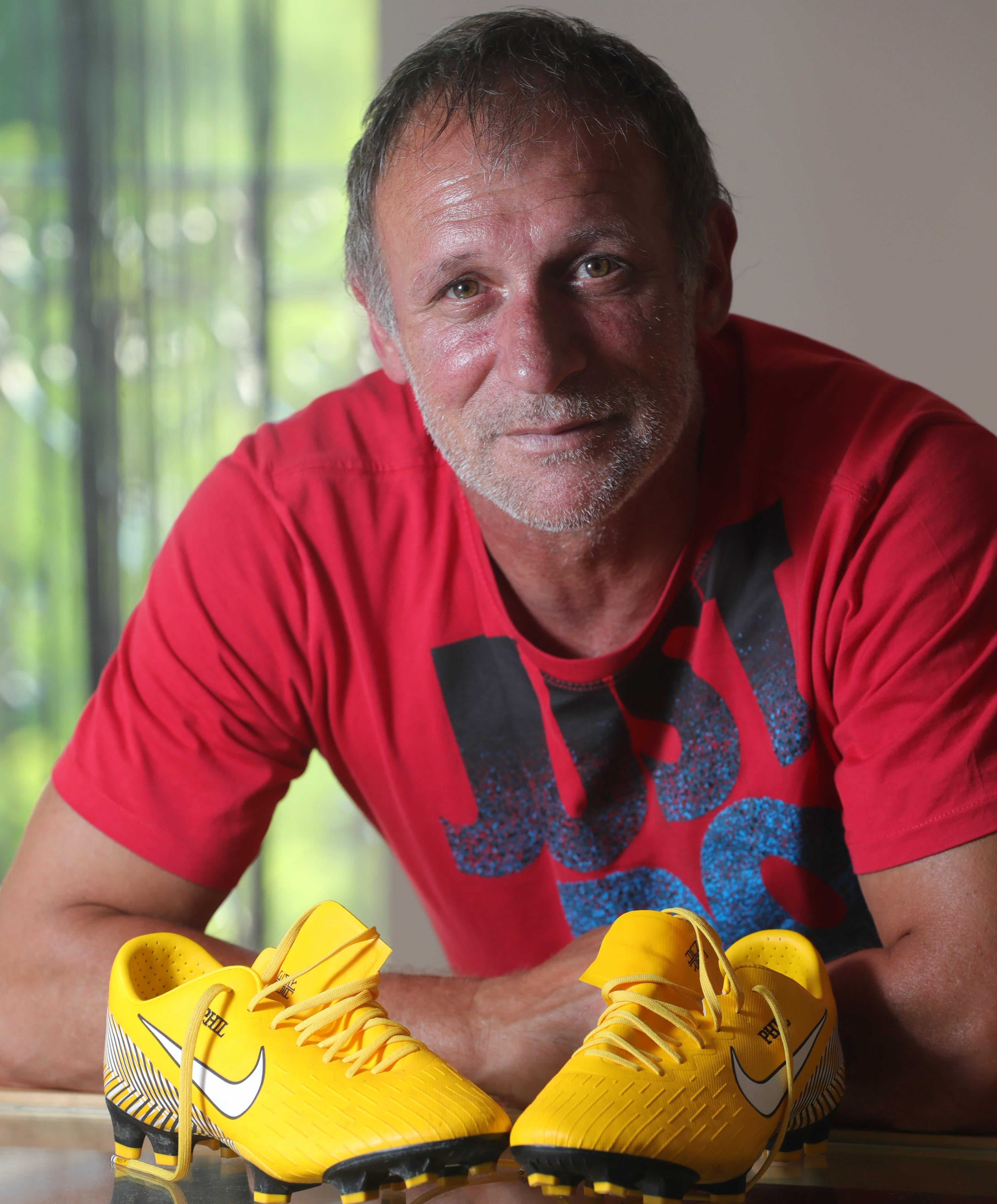 A kivételes képességű egykori focista fiatal játékosoknak tart egyéni képzést / Fotó: Varga Imre