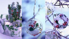Lodowe ozdoby świąteczne to prawdziwe cudeńka. Zobacz, jak je zrobić