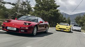 Auta marzeń z lat 90. - Honda NSX kontra Ferrari F355 GTS i Porsche 911 Targa