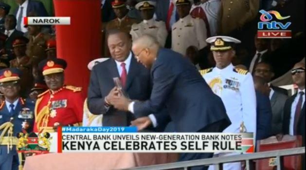 Image result for images of Uhuru with Patrick Njoroge at madaraka day in Narok